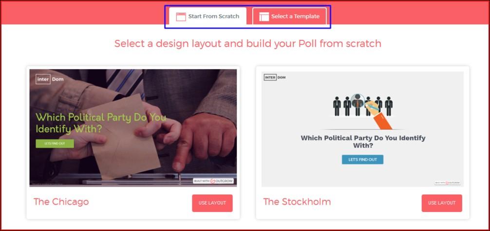 create a poll Outgrow