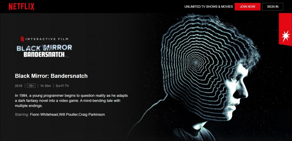 interactive video: bandersnatch