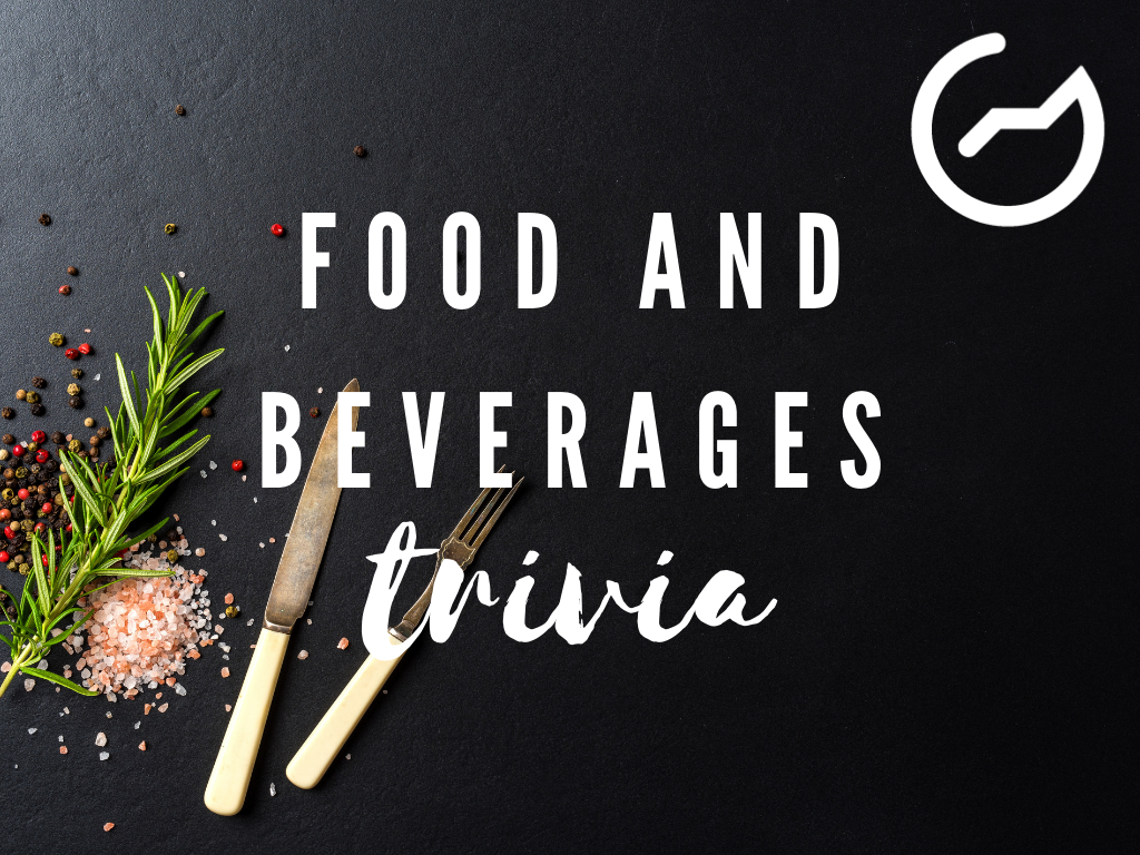 list of food and beverage trivia questions